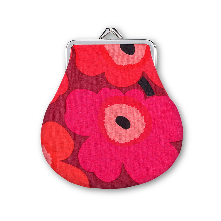 Mini Unikko Purse by Marimekko in White / Red