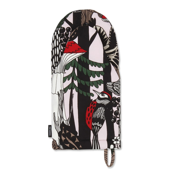 Veljekset Oven Mitt by Marimekko in black / white