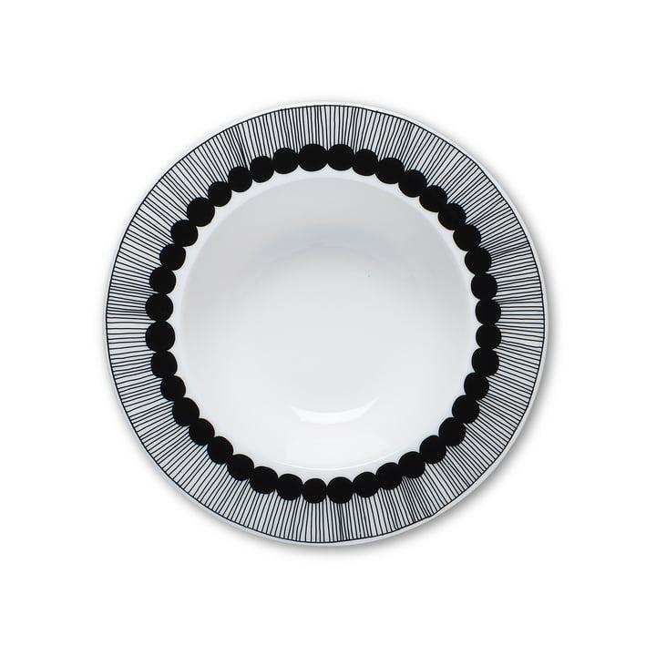 Marimekko - Oiva Siirtolapuutarha Deep Plate, Ø 20 cm in black / white