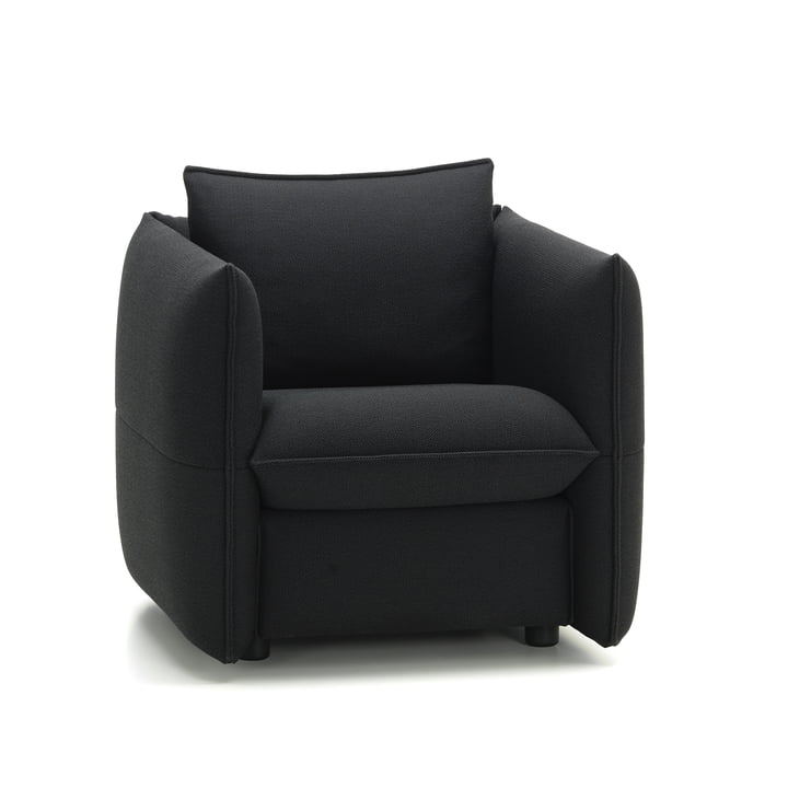 Mariposa Club Sofa by Vitra in Plano Dark Grey / Nero (62)