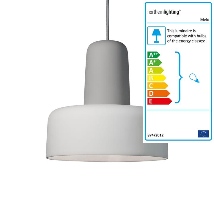 Northern - Meld Pendant Lamp, grey / broken white