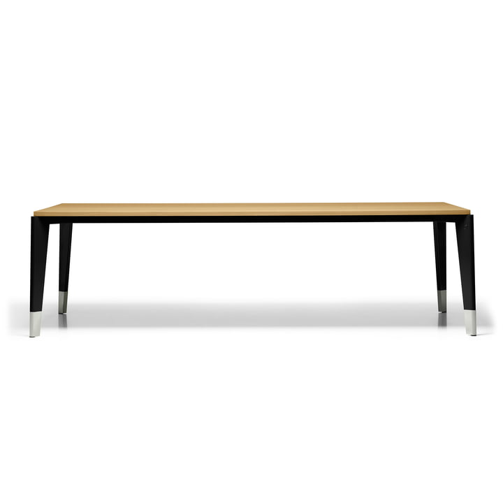 Vitra - Flavigny Dining Table, 240 x 90 cm, deep black frame / natural oiled oak