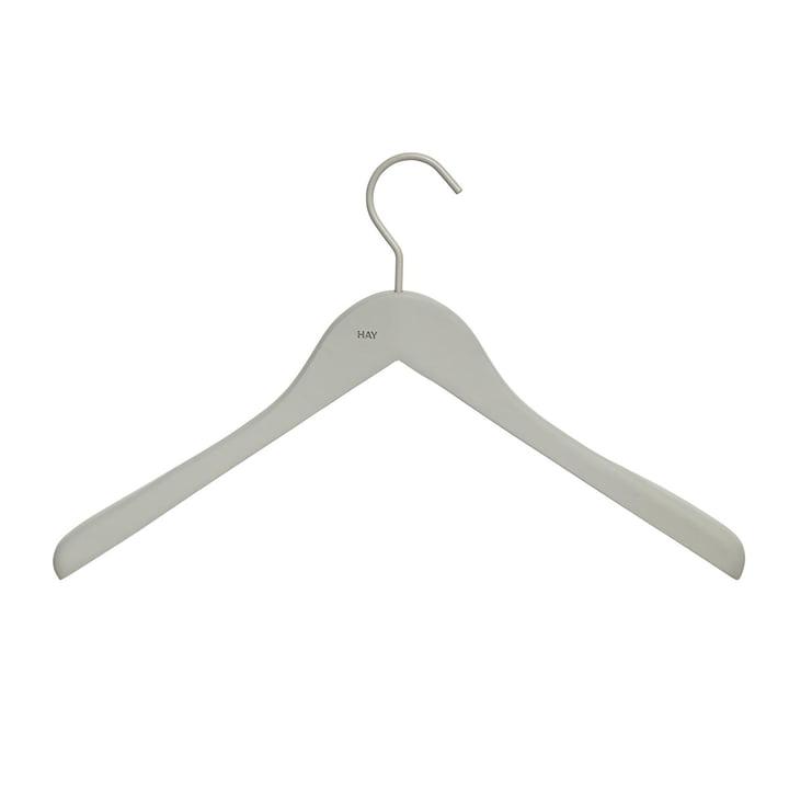 Hay - Coat Soft Coat hanger (set of 4), wide grey