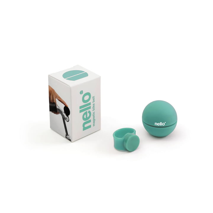 Nello magnetic bicycle bell by Palomar in turquoise