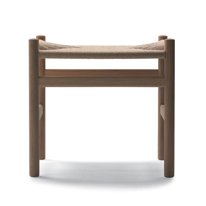Carl Hansen - CH53 stool in soaped oak with natural weaving