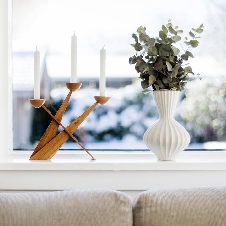 Caravel Candleholder by Spring Copenhagen out of oak