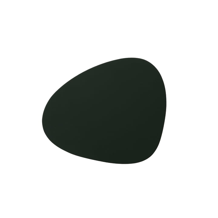Glass coaster Curve from LindDNA in Softbuck dark green
