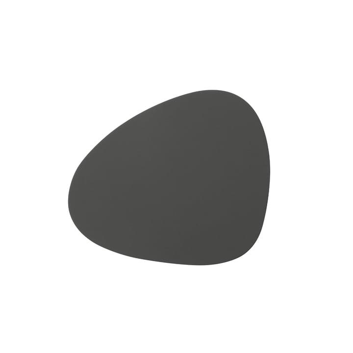 Glass coaster Curve from LindDNA in Softbuck dark grey