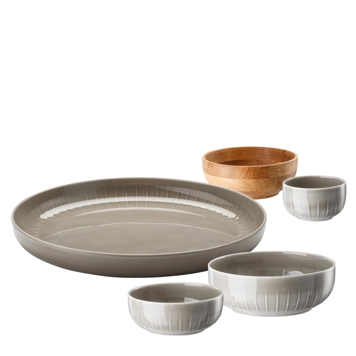 Arzberg - Joyn Dinnerware Set (5 pcs) in Grey