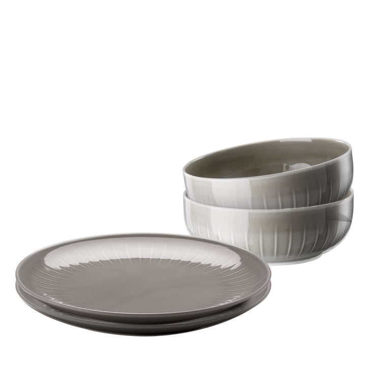 Arzberg - Joyn Dinnerware Set (4 pcs) in Grey