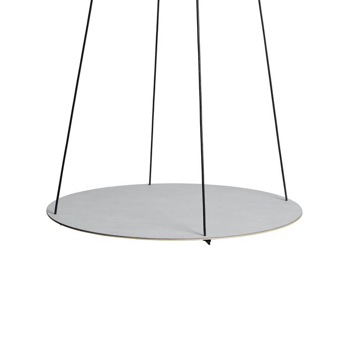 Pendulum Circle Ø 115 cm by LindDNA in Nupo metallic / metallic steel