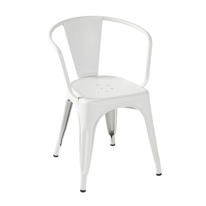 A56 Armchair by Tolix in Matt White