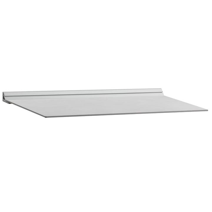 Slim Shelf M 20 x 45 cm by LindDNA in Metallic Nupo / Metallic Steel