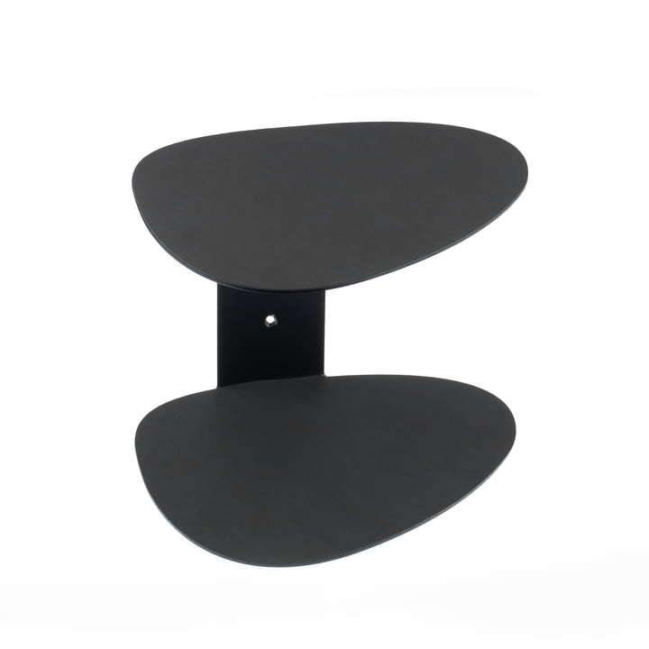 Curve wall shelf by LindDNA in black Nupo / black steel