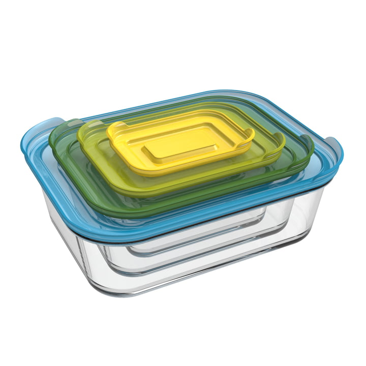 Nest Glass Storage Set (4-Piece) by Joseph Joseph
