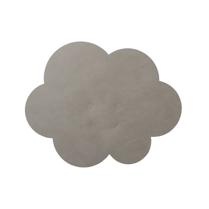 Cloud Placemat 38 x 31 cm by LindDNA in Light Grey Nupo (1,6 mm)