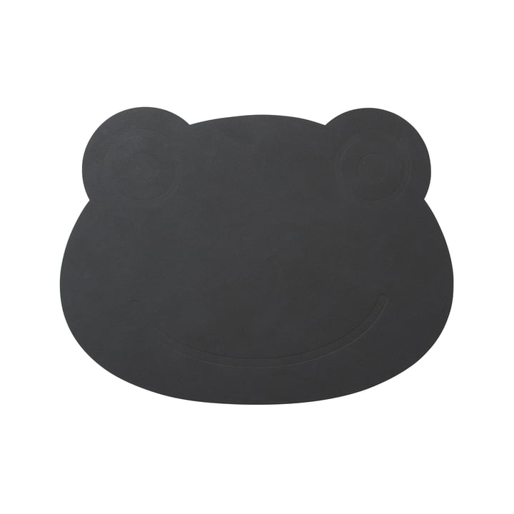 Frog Placemat 38 x 28 cm by LindDNA in Anthracite Nupo (1,6 mm).