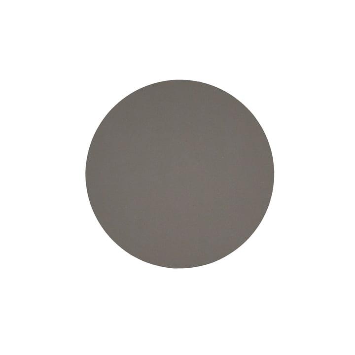Glass coaster round Ø 10 cm from LindDNA in Softbuck dark grey