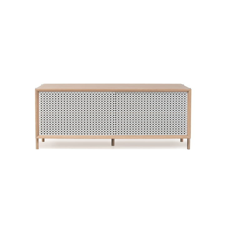 Hartô - Gabin Sideboard 122 cm, light grey (RAL 7035)