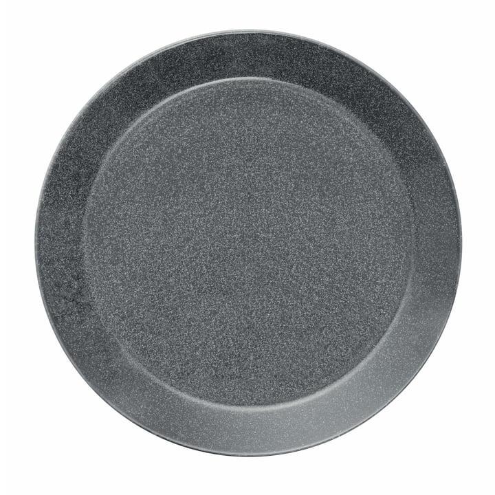 Teema flat plate Ø 26 cm by Iittala in speckled grey