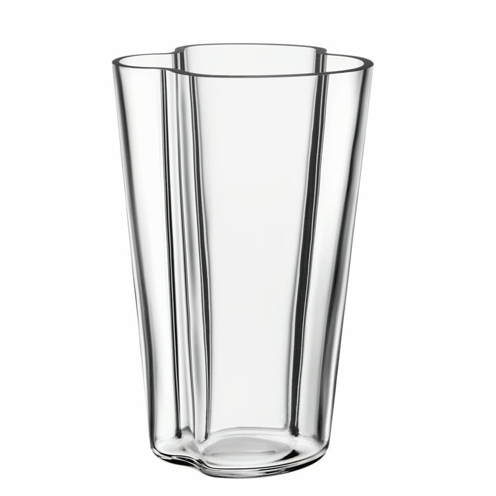 Aalto Finlandia Vase 220 mm by Iittala, Clear