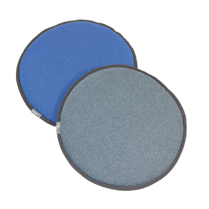 Vitra - Seat Dots, blue / coconut