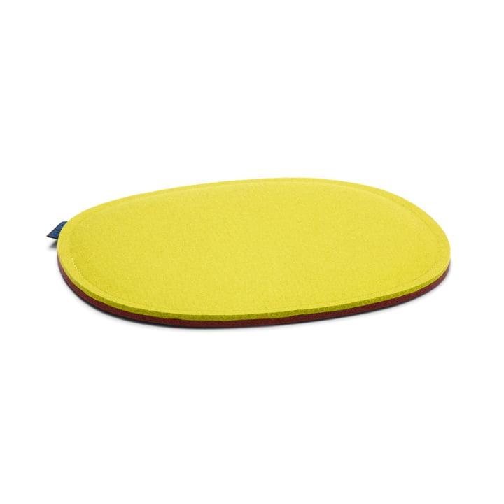 Hey Sign - Felt Cushion Eames Plastic Side Chair, lemon and walnut 2 x 5mm + foam filling, without anti-slip coating