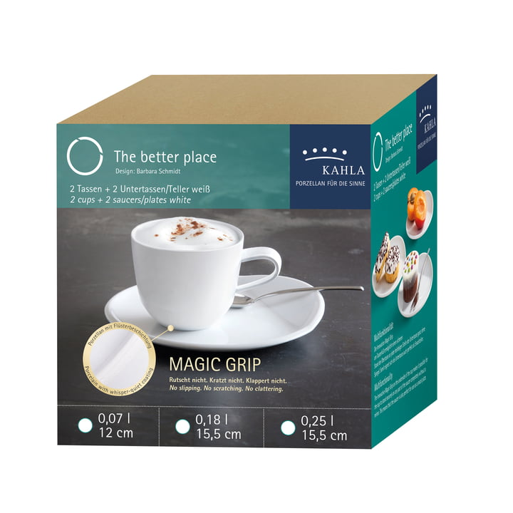 O - The Better Place Cappuccino Set by Kahla in White (4 pcs)