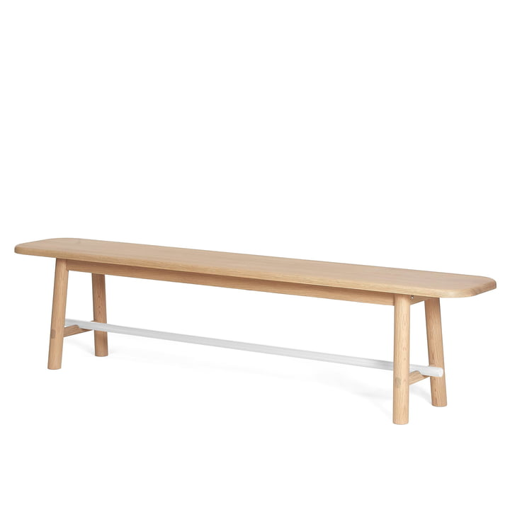 Hector Bench by Hartô, Oak / Traffic White (RAL 9016)