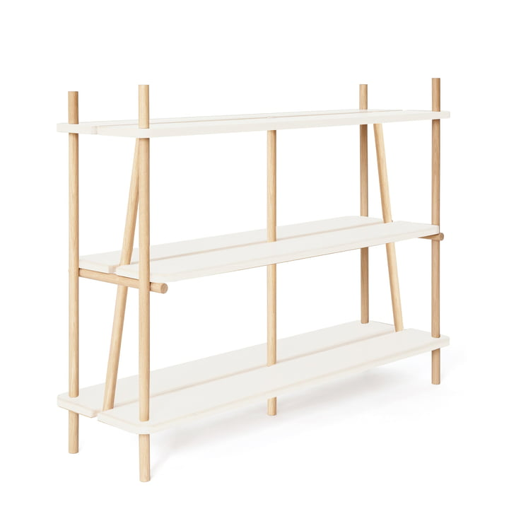 Simone Bookshelf by Hartô 120 cm in Oak / White (RAL 9016)