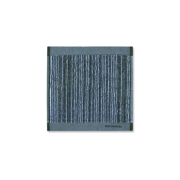 Marimekko - Face Towel Varvunraita 30 x 30 cm by Marimekko in Blue / Black