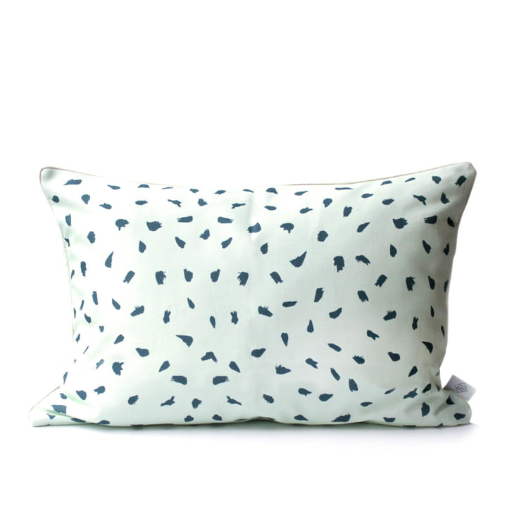 Plumes Cushion 60 x 40cm by Hartô in Pale Green