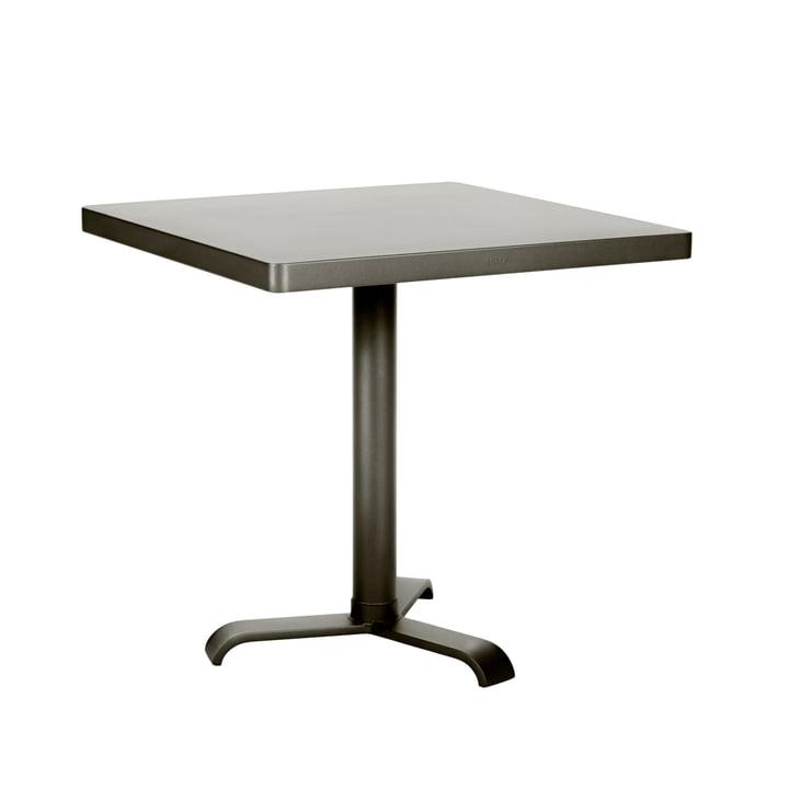 77 Side Table 70 x 70 cm by Tolix in grey glazed steel