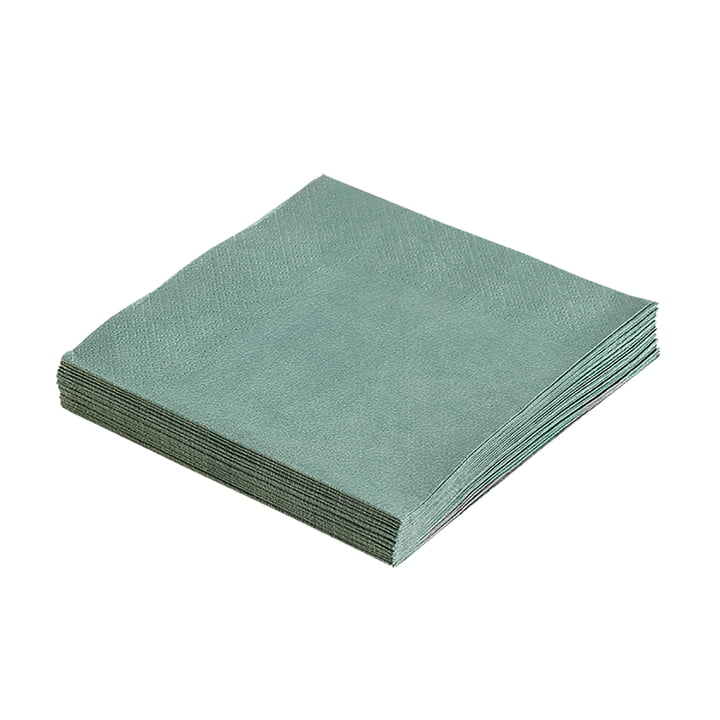 Paper napkins 33 x 33 cm by LindDNA in pastel green (20 pcs.)