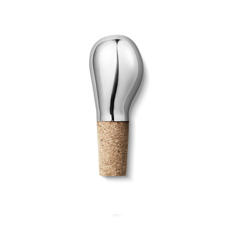 The Georg Jensen - Sky Wine Stopper out of Stainless Steel