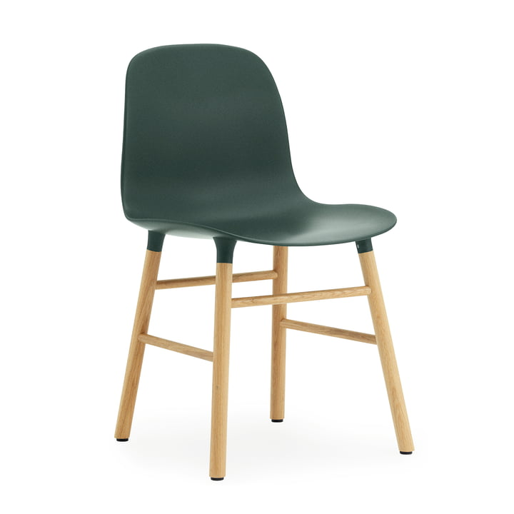 Normann Copenhagen - Form Chair, Wood Legs, oak / green