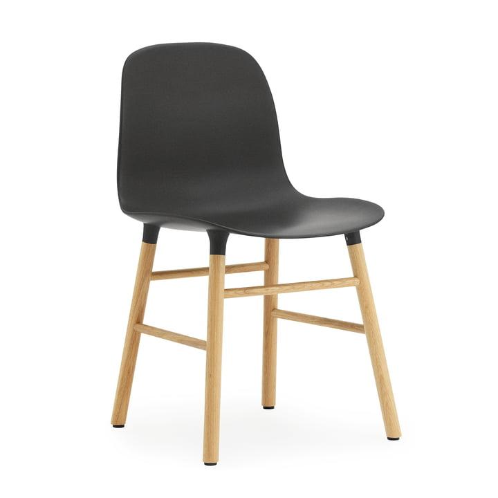 Normann Copenhagen - Form Chair, Wood Legs, oak / black