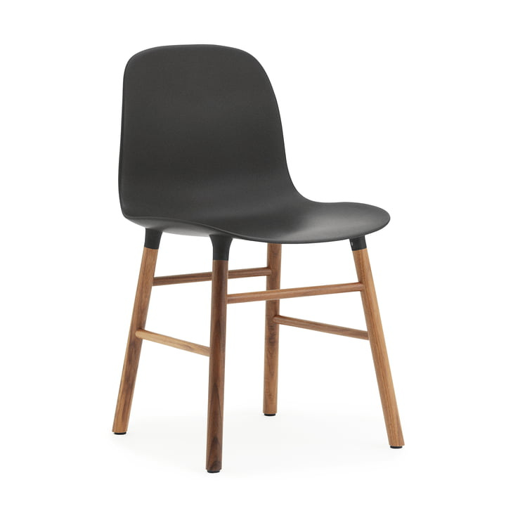 Normann Copenhagen - Form Chair, Wood Legs, walnut / black