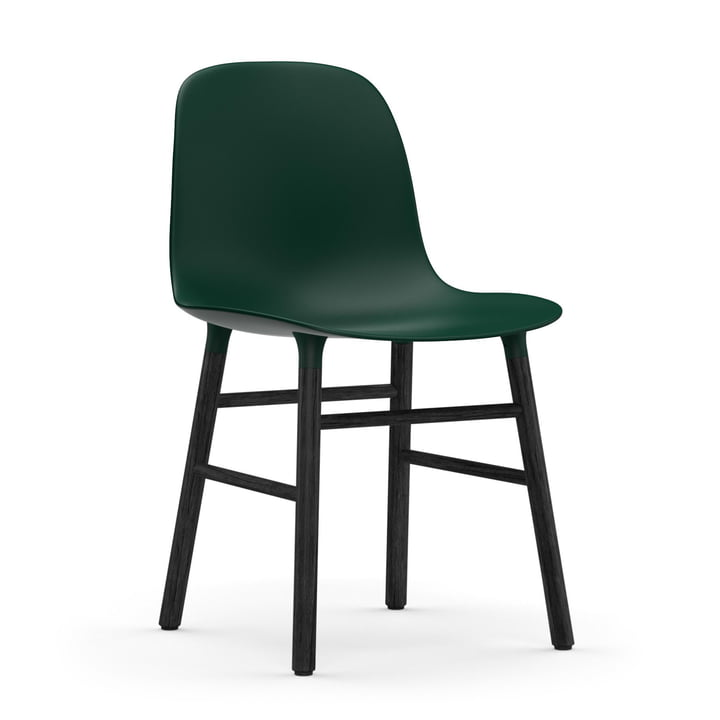 Normann Copenhagen - Form Chair, Wood Legs, black oak / green