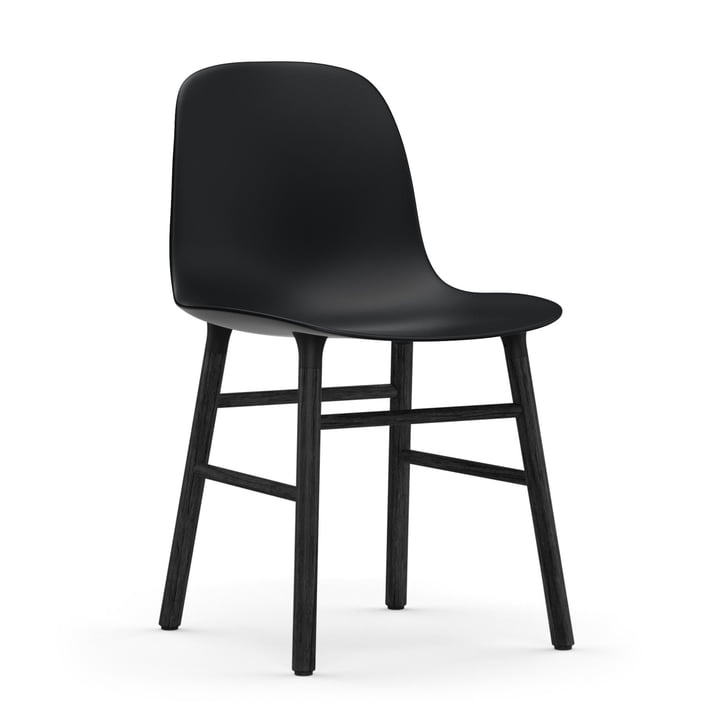 Normann Copenhagen - Form Chair, Wood Legs, black oak / black