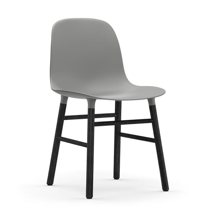 Normann Copenhagen - Form Chair, Wood Legs, black oak / gray