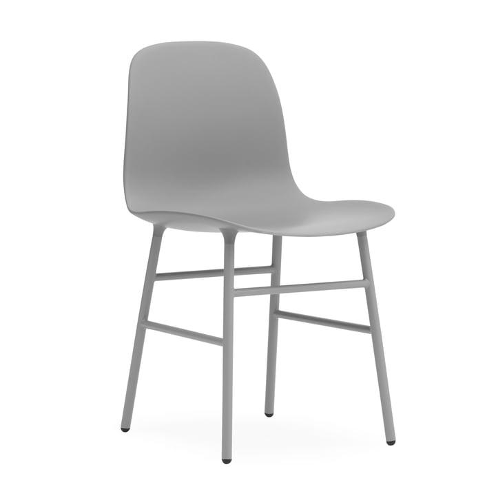Form Chair, Steel Legs by Normann Copenhagen in Grey