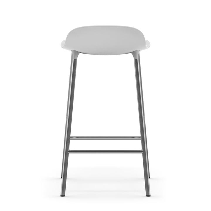 Form Bar Stool 65 cm with chrome frame by Normann Copenhagenin white