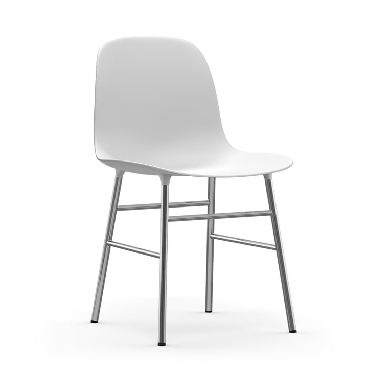 Form Chair (Chrome) by Normann Copenhagen in White