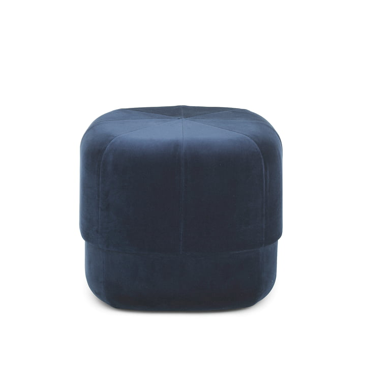 Circus Pouf in small from Normann Copenhagen in dark blue suede leather