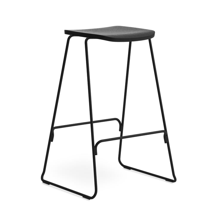 Just bar stool H 75 cm by Normann Copenhagen in black