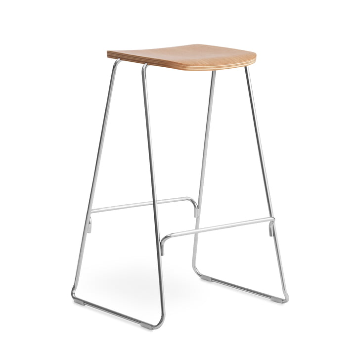 Just bar stool H 75 cm by Normann Copenhagen in oak nature / chrome