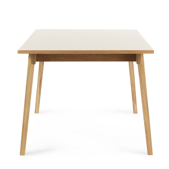 Slice Bar High Table 200 x 90 x 103 cm by Normann Copenhagen in cream