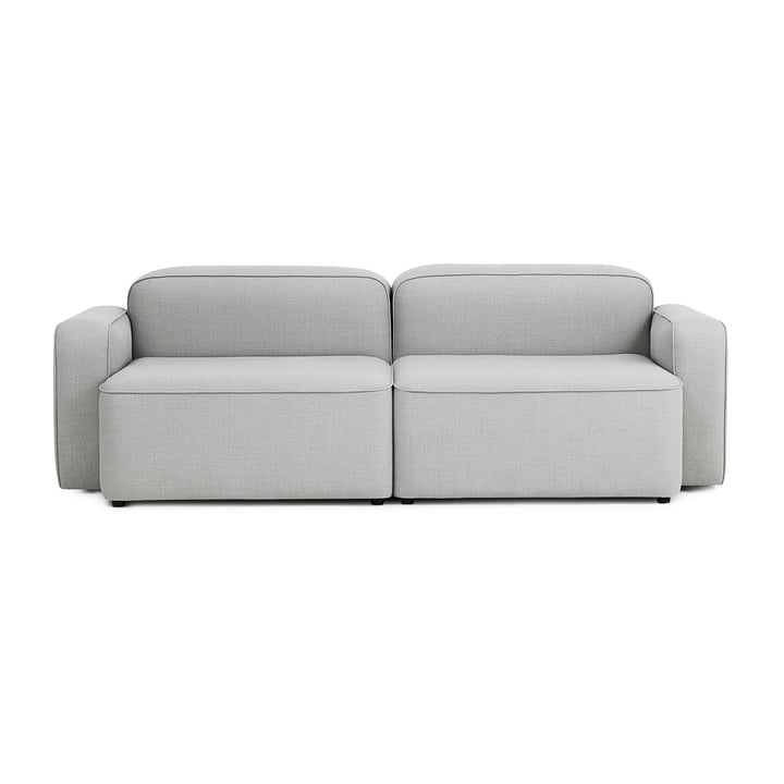 Rope sofa 2-seater by Normann Copenhagen in light grey (Fame Hybrid 1101)