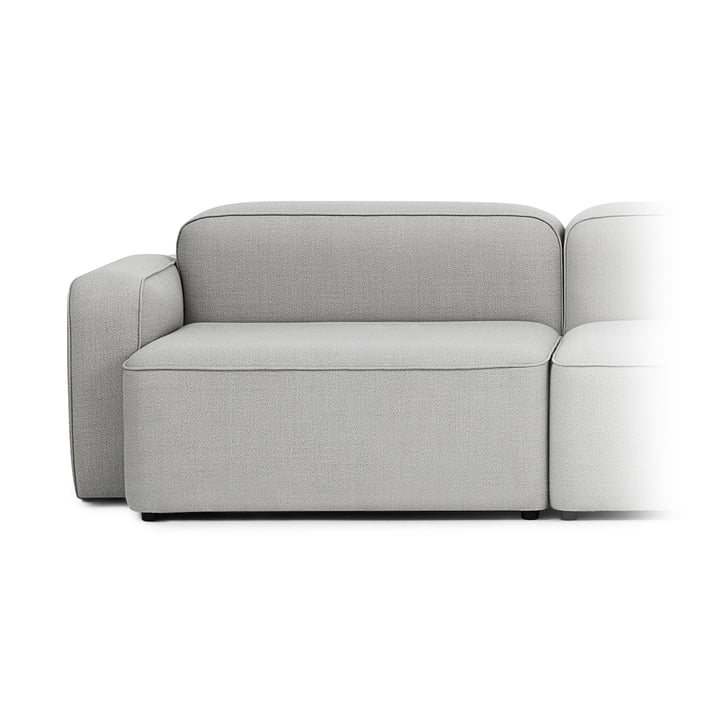 Rope Sofa Wide Module 300 Wide, Left Armrest by Normann Copenhagen in Light Grey (Fame Hybrid 1101)